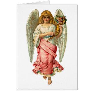 Ángel de Pascua con las alas hermosas Tarjeta