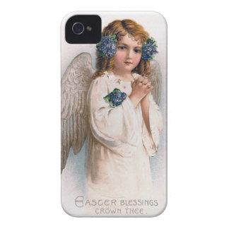 Ángel de Pascua del vintage iPhone 4 Case-Mate Cobertura