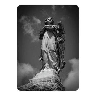Ángel de piedra invitación 12,7 x 17,8 cm