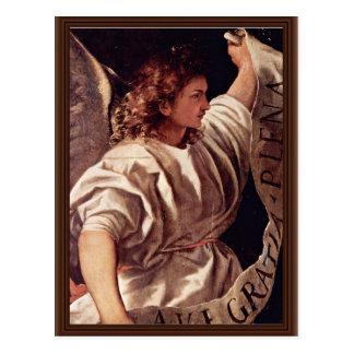 Ángel del anuncio por Tizian (la mejor calidad) Postal