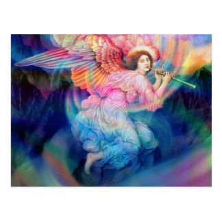 Ángel del arco iris postal