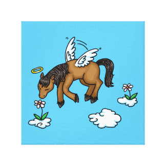 Ángel del caballo impresiones de lienzo