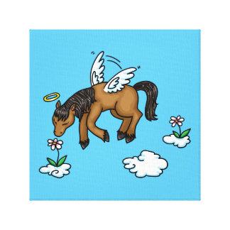 Ángel del caballo impresión en tela