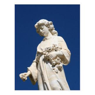 Ángel del cementerio postal
