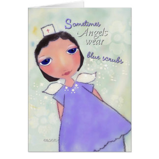 ángel del día de la enfermera feliz tarjeta de felicitación