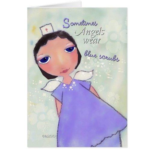 ángel del día de la enfermera feliz tarjetas