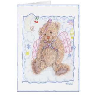 Ángel del oso tarjeta de felicitación