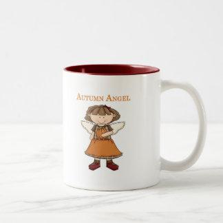 Ángel del otoño taza de café