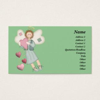 Ángel del país con la tarjeta de visita de los