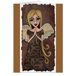 Ángel del rezo - tarjeta de felicitación