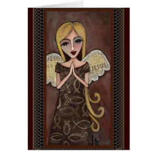 Ángel del rezo - tarjeta de felicitación angelical