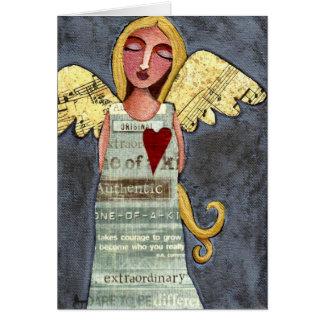 Ángel del valor - tarjeta de felicitación de la to