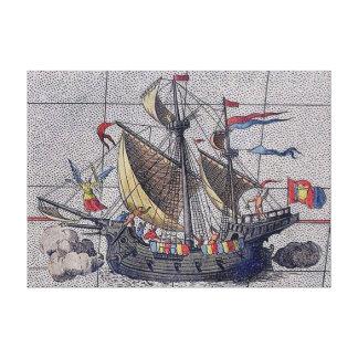 Ángel del velero de los mares impresión en lienzo