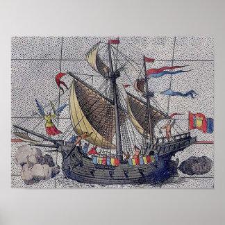 Ángel del velero de los mares póster