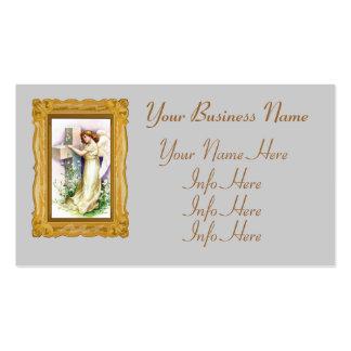 Ángel del vintage con la cruz cristiana tarjetas de visita