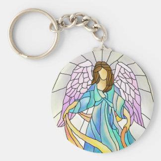 Ángel del vitral llaveros personalizados