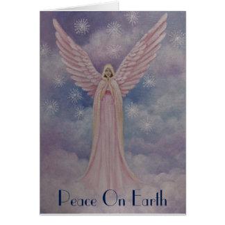 Ángel divino, tarjeta de Navidad
