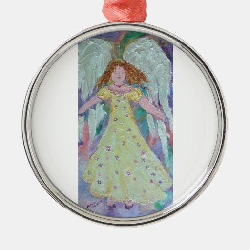ángel dulce ornamento para arbol de navidad