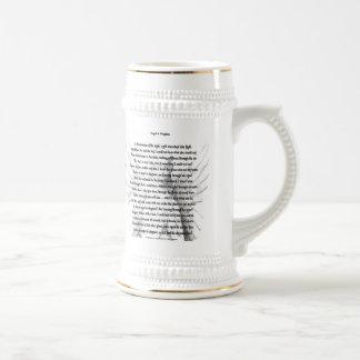 Ángel en disfraz taza de café