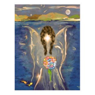 Ángel en el agua postal