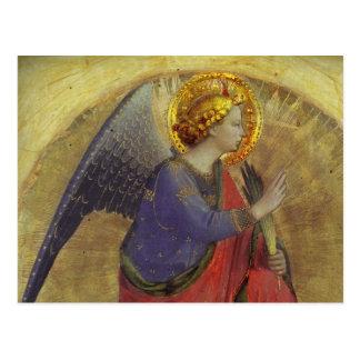 Ángel en oro postal