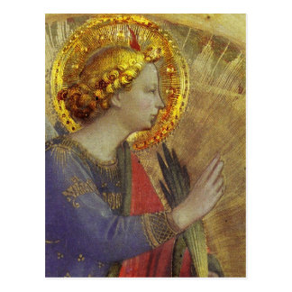 Ángel en oro tarjeta postal