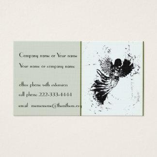 Ángel estilizado en pálido - tarjeta de visita