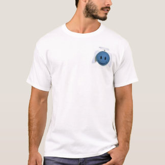 Ángel feliz azul de la cara camiseta