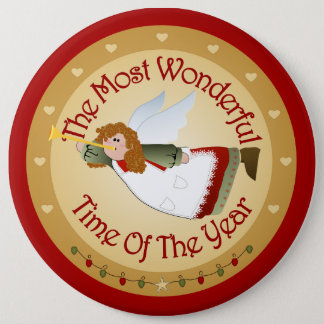 Ángel grande del navidad del botón