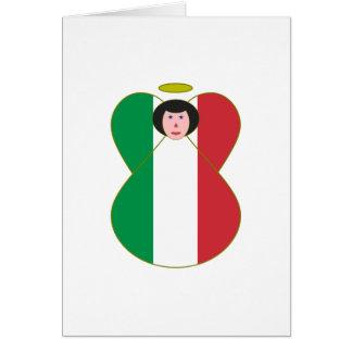 Ángel italiano de la bandera tarjeta de felicitación