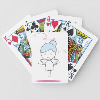 ángel lindo del niño cartas de juego