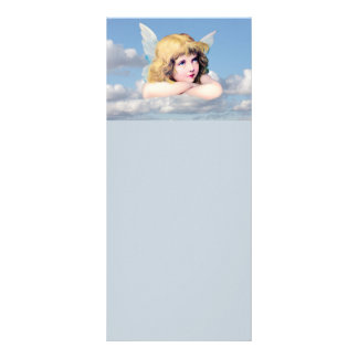 Ángel lindo en las nubes diseño de tarjeta publicitaria