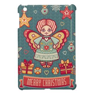 Ángel lindo y presentes de las Felices Navidad