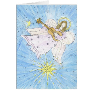 Ángel musical tarjeta de felicitación