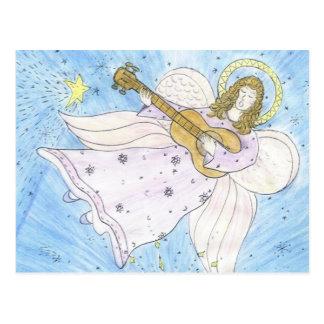 Ángel musical tarjetas postales