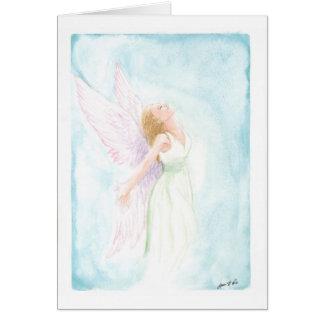 Ángel o hada (espacio en blanco de la acuarela tarjeta pequeña