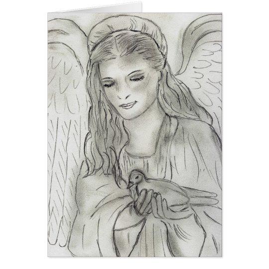 ángel pacífico tarjeta de felicitación