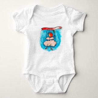 Ángel que cuelga en una bandera body para bebé