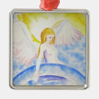 Ángel que cura el ornamento del planeta