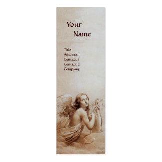 ÁNGEL QUE JUEGA a LYRA SOBRE la perla del monogram Tarjeta De Negocio