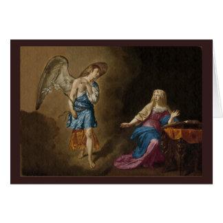 Ángel y Maria del anuncio