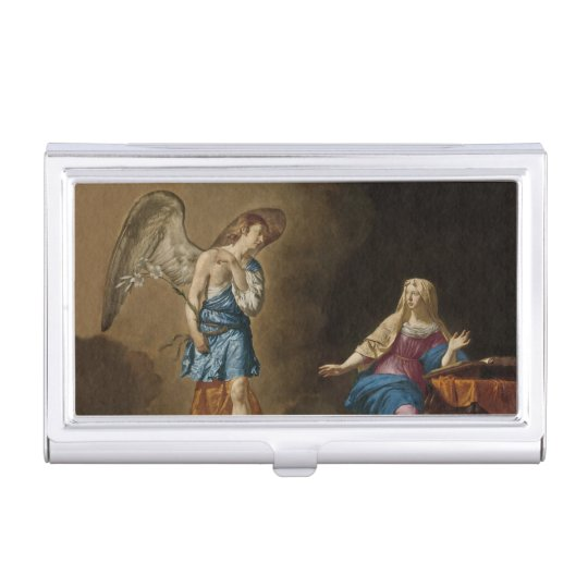 Ángel y Maria del anuncio Caja Para Tarjetas De Visita