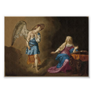 Ángel y Maria del anuncio Foto