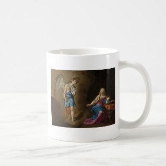 Ángel y Virgen María del anuncio Taza De Café
