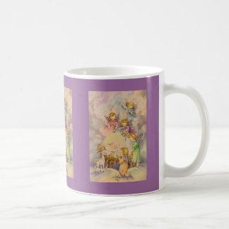 Ángeles con el bebé Jesús Tazas De Café