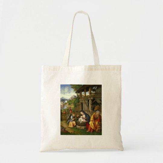Ángeles de la natividad y del niño bolso de tela