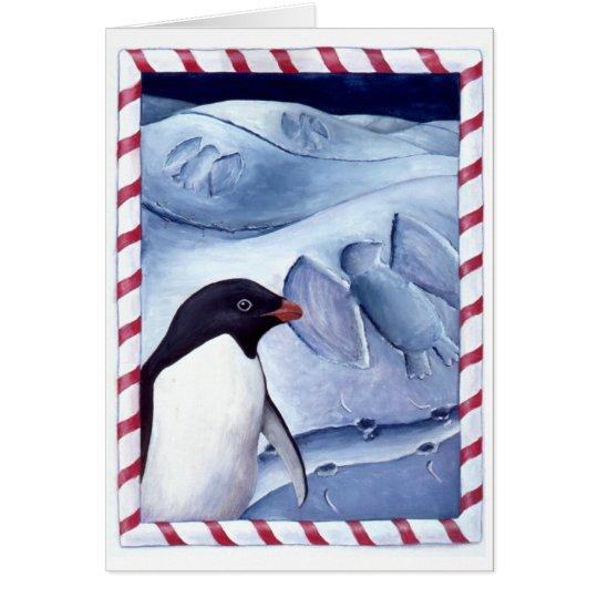 Ángeles de la nieve tarjeta de felicitación