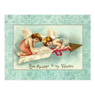 Ángeles de la tarjeta del día de San Valentín del