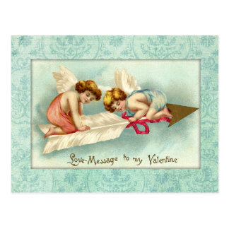 Ángeles de la tarjeta del día de San Valentín del  Postal