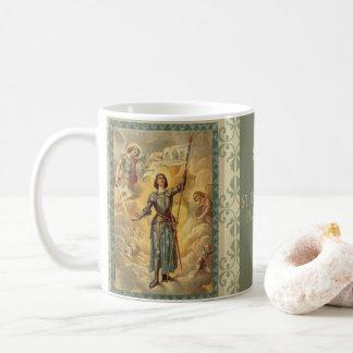 Ángeles Soldie del St. Juana de Arco San Miguel Taza De Café